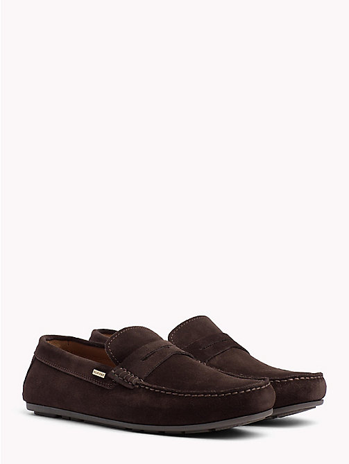 TOMMY HILFIGER Classic Suede Loafers - COFFEE BEAN - TOMMY HILFIGER Loafers & Boat Shoes - main image