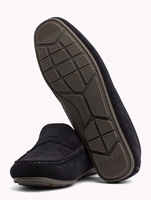 TOMMY HILFIGER Classic Suede Loafers - MIDNIGHT - TOMMY HILFIGER Loafers & Boat Shoes - detail image 1