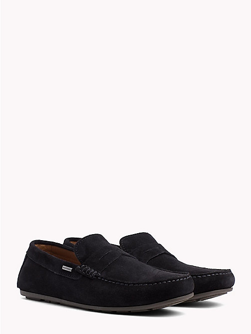 TOMMY HILFIGER Klassische Wildleder-Loafer - MIDNIGHT - TOMMY HILFIGER Mokassins - main image