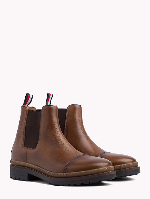 TOMMY HILFIGER Elevated Leather Chelsea Boots - COGNAC - TOMMY HILFIGER Chelsea Boots - main image