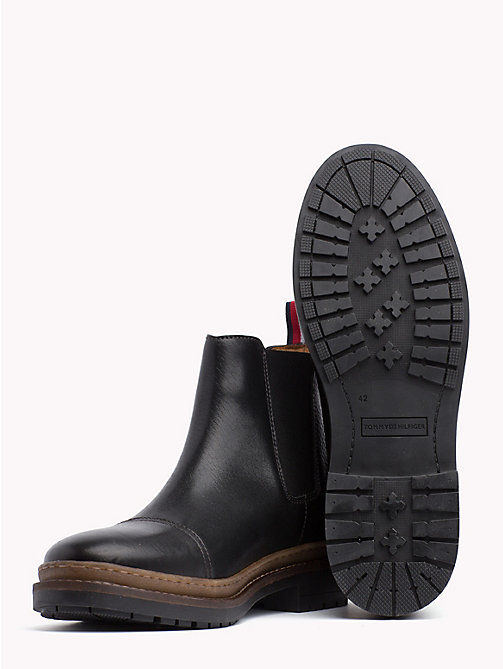 TOMMY HILFIGER Bottines Chelsea Elevated en cuir - BLACK - TOMMY HILFIGER Chelsea boots - image détaillée 1