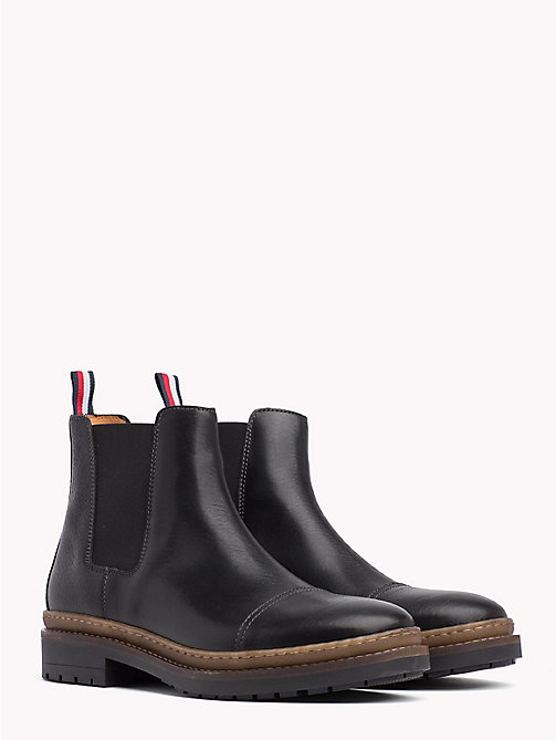 TOMMY HILFIGER Bottines Chelsea Elevated en cuir - BLACK - TOMMY HILFIGER Chelsea boots - image principale