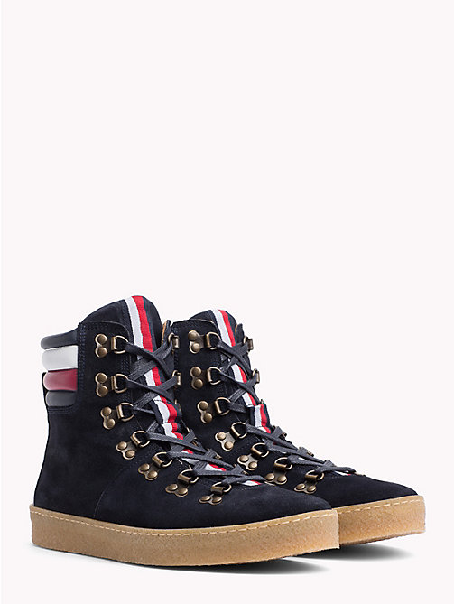 TOMMY HILFIGER Suede Hiking Boots - MIDNIGHT - TOMMY HILFIGER Shoes - main image
