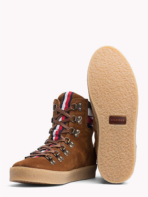 TOMMY HILFIGER Suede Hiking Boots - COGNAC - TOMMY HILFIGER Shoes - detail image 1