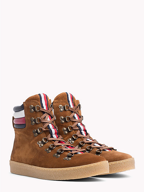 TOMMY HILFIGER Suede Hiking Boots - COGNAC - TOMMY HILFIGER Shoes - main image
