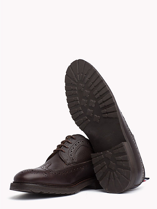 TOMMY HILFIGER Classic Leather Brogues - COFFEEBEAN - TOMMY HILFIGER Lace-up Shoes - detail image 1