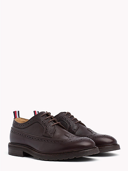 TOMMY HILFIGER Classic Leather Brogues - COFFEE BEAN - TOMMY HILFIGER Shoes - main image