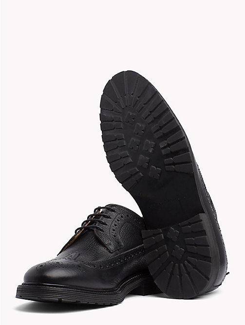 TOMMY HILFIGER Classic Leather Brogues - BLACK - TOMMY HILFIGER Lace-up Shoes - detail image 1
