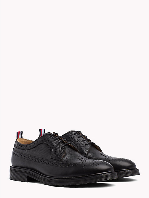 TOMMY HILFIGER Classic Leather Brogues - BLACK - TOMMY HILFIGER Shoes - main image
