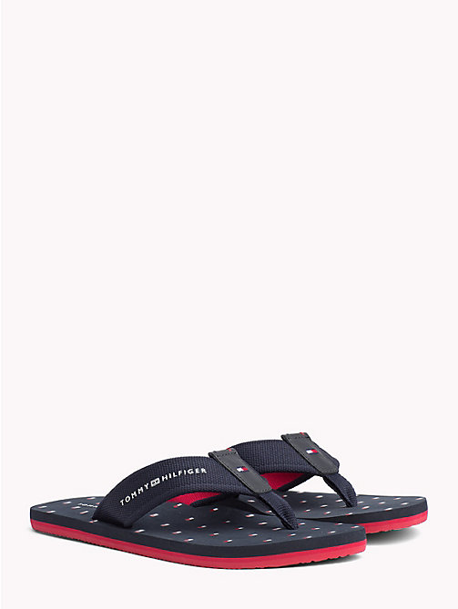 TOMMY HILFIGER Slipper met vlaggenprint - MIDNIGHT - TOMMY HILFIGER NIEUW - main image