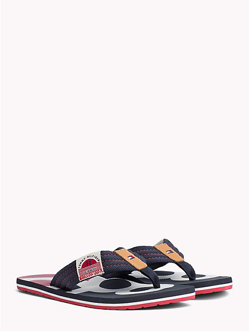 TOMMY HILFIGER Colour-Blocked Flip Flops - MIDNIGHT - TOMMY HILFIGER NEW IN - main image