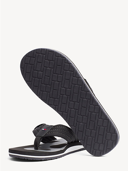 TOMMY HILFIGER Colour-blocked teenslipper - BLACK - TOMMY HILFIGER NIEUW - detail image 1