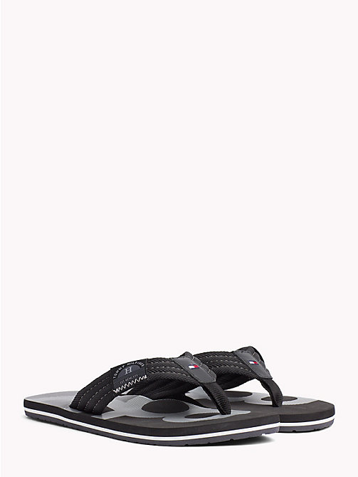 TOMMY HILFIGER Colour-Blocked Flip Flops - BLACK - TOMMY HILFIGER NEW IN - main image