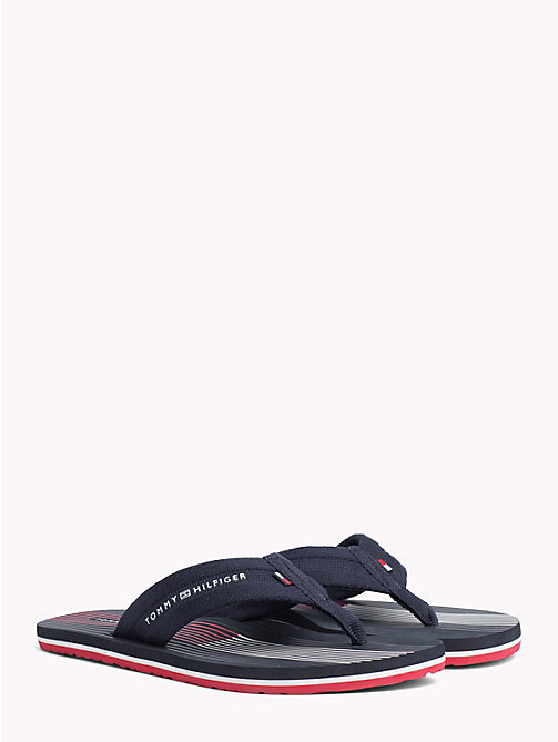 TOMMY HILFIGER Stripe Flip Flops - MIDNIGHT - TOMMY HILFIGER NEW IN - main image