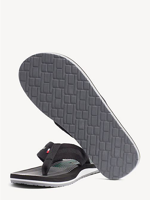 TOMMY HILFIGER Stripe Flip Flops - BLACK - TOMMY HILFIGER NEW IN - detail image 1