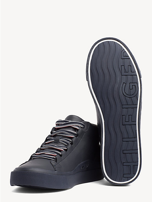 TOMMY HILFIGER Signature Tape Pure Leather Trainers - MIDNIGHT - TOMMY HILFIGER Trainers - detail image 1