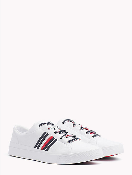 TOMMY HILFIGER Signature Leather Trainers - WHITE - TOMMY HILFIGER NEW IN - main image