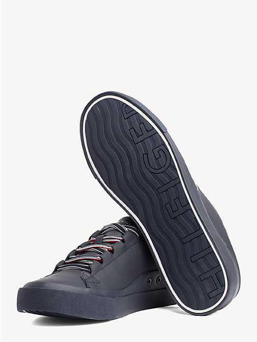 TOMMY HILFIGER Signature Leather Trainers - MIDNIGHT - TOMMY HILFIGER Trainers - detail image 1