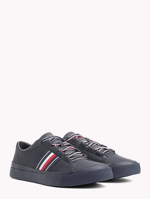 TOMMY HILFIGER Signature Leather Trainers - MIDNIGHT - TOMMY HILFIGER NEW IN - main image