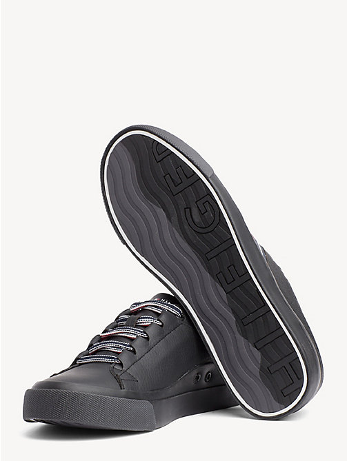 TOMMY HILFIGER Signature Leather Trainers - BLACK - TOMMY HILFIGER NEW IN - detail image 1
