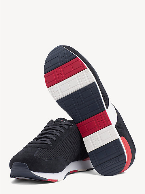 TOMMY HILFIGER Colour-Blocked Logo Trainers - MIDNIGHT - TOMMY HILFIGER Trainers - detail image 1