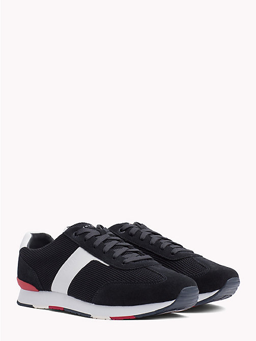 TOMMY HILFIGER Colour-Blocked Logo Trainers - MIDNIGHT - TOMMY HILFIGER Trainers - main image