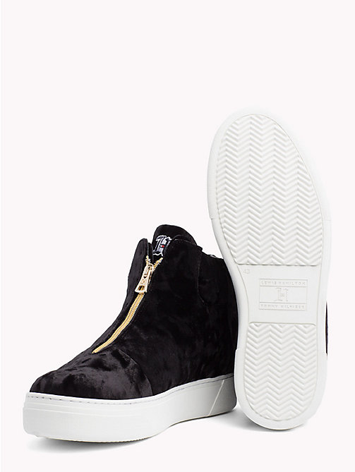 TOMMY HILFIGER Lewis Hamilton Zip-Up Trainers - BLACK - TOMMY HILFIGER TOMMYXLEWIS - detail image 1