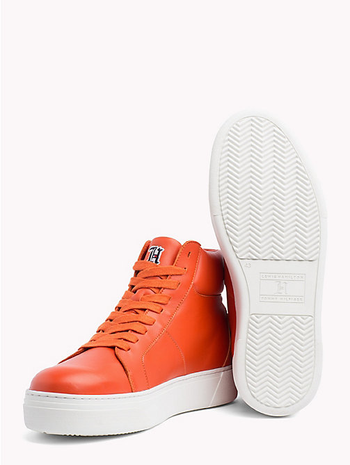 TOMMY HILFIGER Lewis Hamilton Lace-Up Trainers - ORANGEADE - TOMMY HILFIGER Shoes - detail image 1