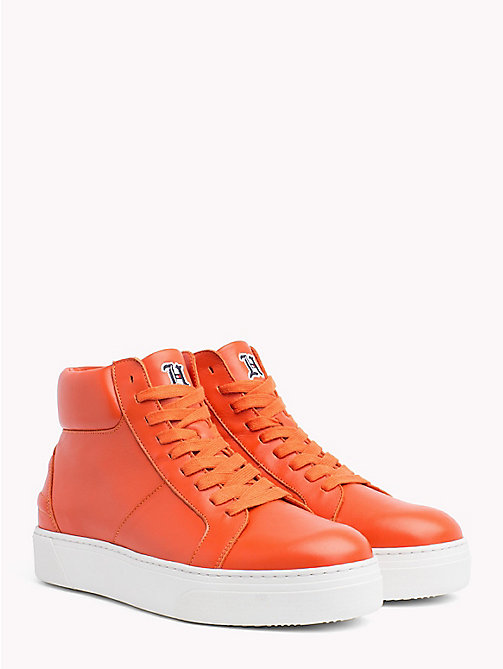 TOMMY HILFIGER Lewis Hamilton Lace-Up Trainers - ORANGEADE - TOMMY HILFIGER Shoes - main image