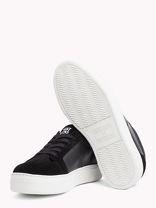 TOMMY HILFIGER Lewis Hamilton Suede Trainers - BLACK - TOMMY HILFIGER TOMMYXLEWIS - detail image 1