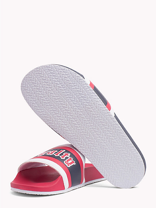 TOMMY HILFIGER Lewis Hamilton Loyalty Sliders - BARBADOS CHERRY-SKY CAPTAIN - TOMMY HILFIGER Sandals & Flip Flops - detail image 1