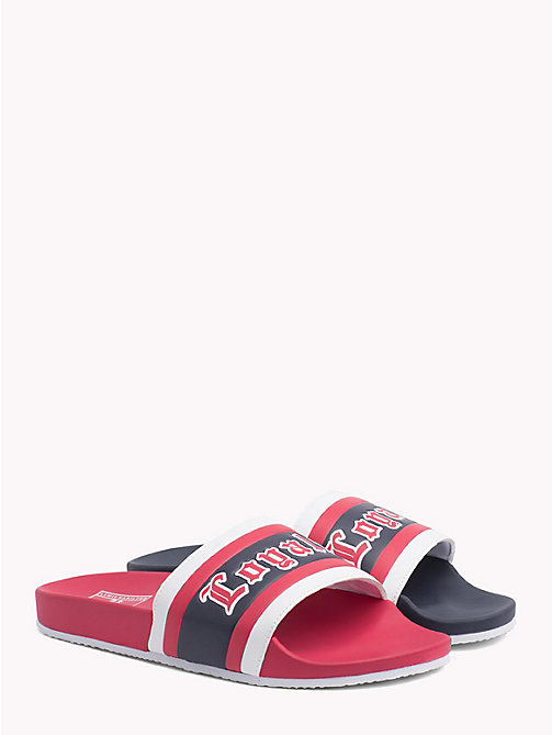 TOMMY HILFIGER Lewis Hamilton-slipper met logo - BARBADOS CHERRY-SKY CAPTAIN - TOMMY HILFIGER TOMMY NOW HEREN - main image
