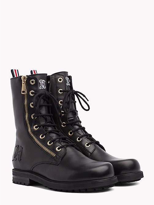 TOMMY HILFIGER Lewis Hamilton Zip-Up Boots - BLACK -  TOMMY NOW MEN - main image