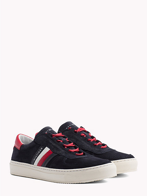 TOMMY HILFIGER Signature Colour-Blocked Trainers - MIDNIGHT - TOMMY HILFIGER Trainers - main image