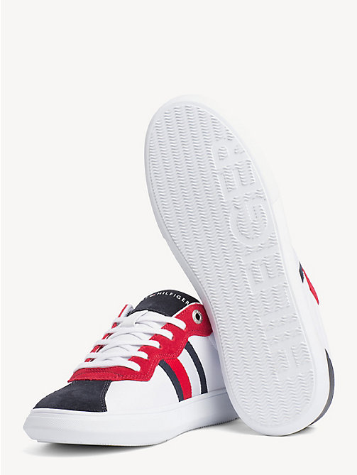 TOMMY HILFIGER Signature Contrast Panel Leather Trainers - RWB - TOMMY HILFIGER Trainers - detail image 1