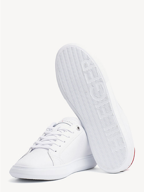 TOMMY HILFIGER Essential Leather Trainers - WHITE - TOMMY HILFIGER Trainers - detail image 1