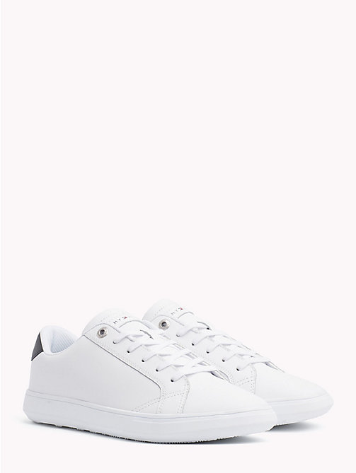TOMMY HILFIGER Essential Leather Trainers - WHITE - TOMMY HILFIGER NEW IN - main image