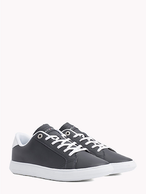 TOMMY HILFIGER Essential Leather Trainers - MIDNIGHT - TOMMY HILFIGER NEW IN - main image