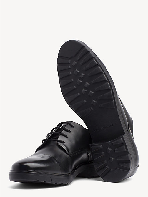 TOMMY HILFIGER Elevated Contrast Leather Shoes - BLACK - TOMMY HILFIGER NEW IN - detail image 1