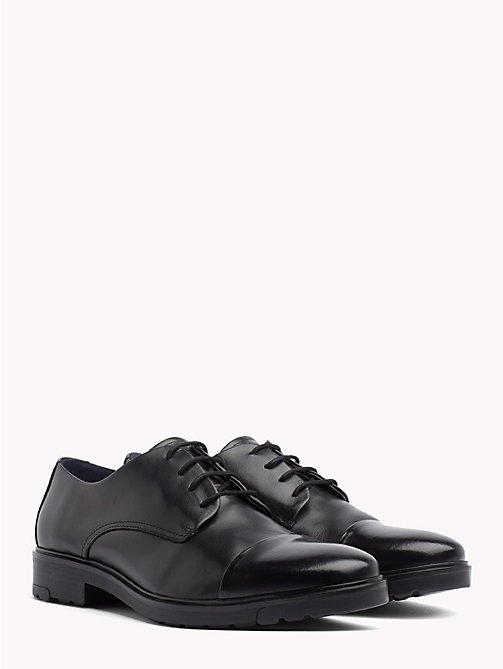 TOMMY HILFIGER Elevated Contrast Leather Shoes - BLACK - TOMMY HILFIGER Something Special - main image