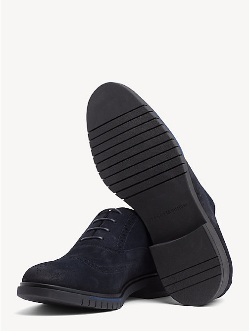 TOMMY HILFIGER Flexible Lace-Up Suede Brogues - MIDNIGHT - TOMMY HILFIGER Lace-up Shoes - detail image 1