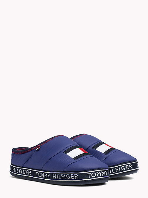 TOMMY HILFIGER Flag Patch Slippers - SOLIDATEBLUE - TOMMY HILFIGER Slippers - main image