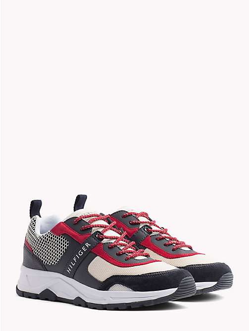 TOMMY HILFIGER Lightweight Mixed Texture Trainers - RWB - TOMMY HILFIGER NEW IN - main image