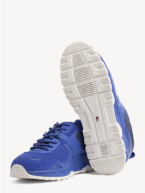 TOMMY HILFIGER Lightweight Mixed Texture Trainers - SURF THE WEB - TOMMY HILFIGER Trainers - detail image 1