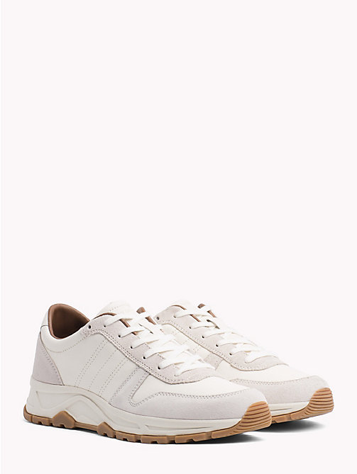 TOMMY HILFIGER Lightweight Suede Trainers - OFF WHITE - TOMMY HILFIGER NEW IN - main image