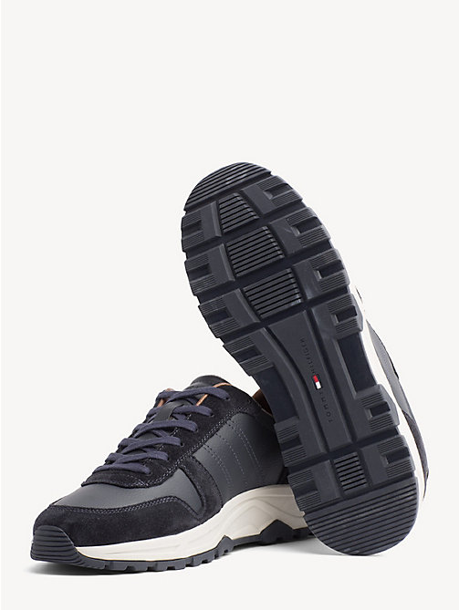 TOMMY HILFIGER Lightweight Suede Trainers - MIDNIGHT - TOMMY HILFIGER Trainers - detail image 1