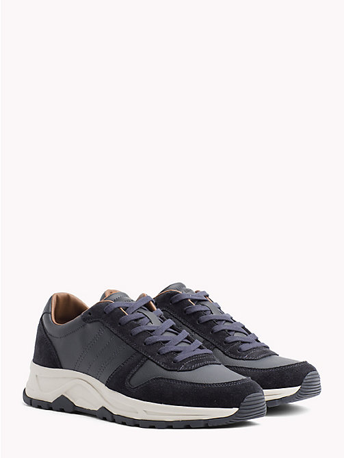 TOMMY HILFIGER Lightweight Suede Trainers - MIDNIGHT - TOMMY HILFIGER NEW IN - main image