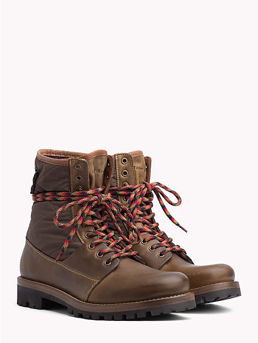 TOMMY HILFIGER Material Mix Winter Boots - MUSTARD - TOMMY HILFIGER NEW IN - main image