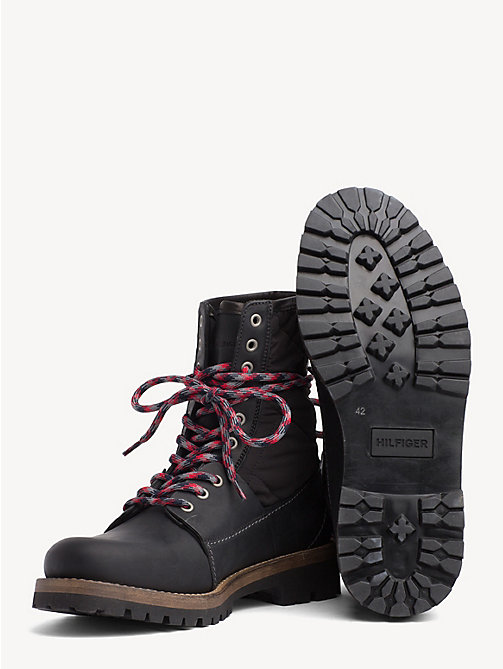 TOMMY HILFIGER Material Mix Winter Boots - BLACK - TOMMY HILFIGER Boots - detail image 1