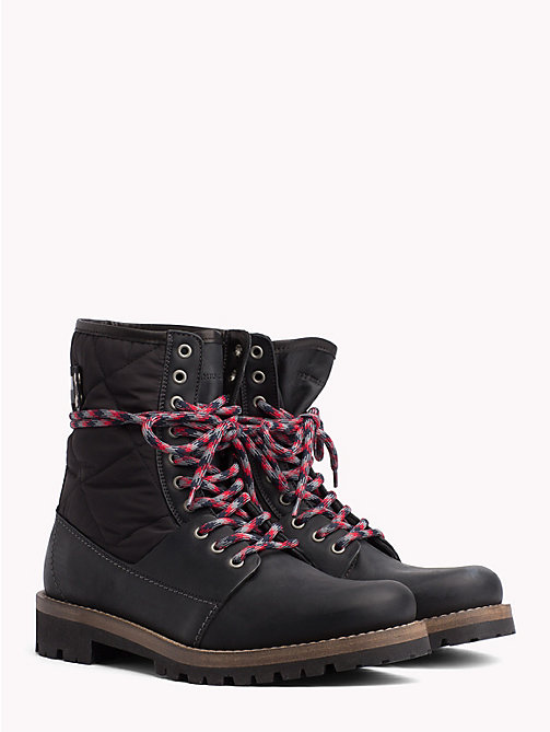 TOMMY HILFIGER Material Mix Winter Boots - BLACK - TOMMY HILFIGER NEW IN - main image